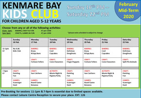 Kenmare Bay Hotel February Mid-Term Kids Club
