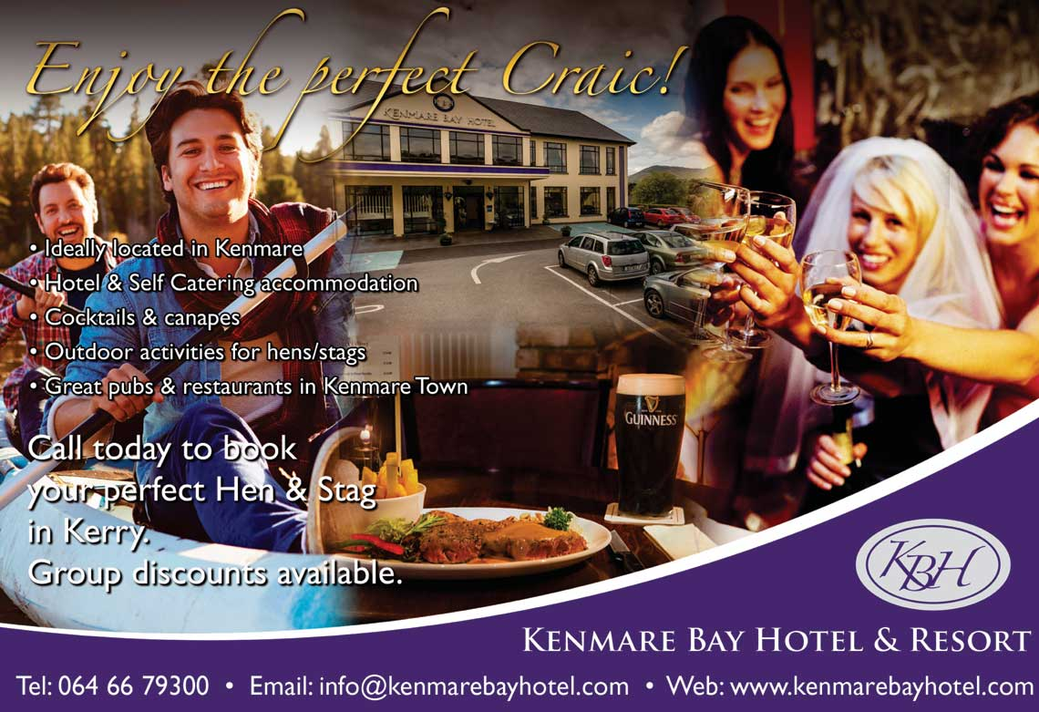 Kenmare Bay Hotel Accommodation - Hen & Stag Groups